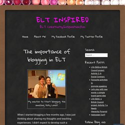 The importance of blogging in ELT