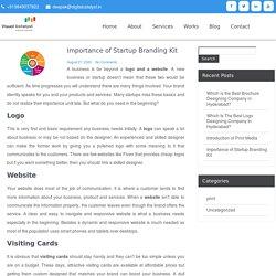 Importance of Startup Branding Kit – Visual Catalyst