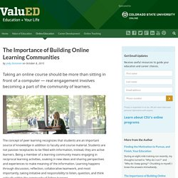 The Importance of Building Community in Online Classes