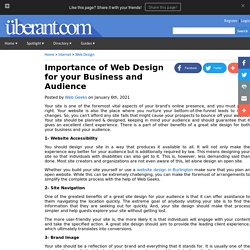 Importance of Web Design for your Business and Audience