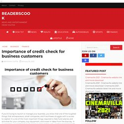 Importance of credit check for business customers