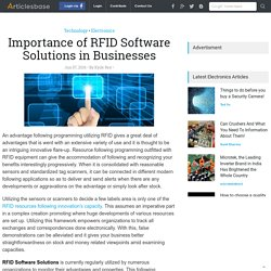 Read About Importance of RFID Software Solutions in Businesses