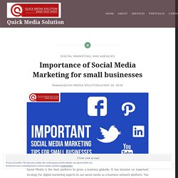 Importance of Social Media Marketing for small businesses – Quick Media Solution
