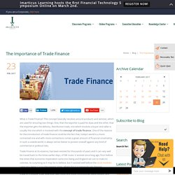 The Importance of Trade Finance