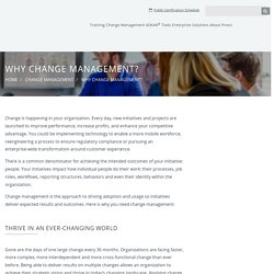 The Why & Importance of Change Management