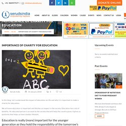 Importance Of Charity For Education- Donate for Child's education