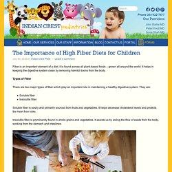 Importance of High Fiber Diets for Children - Indian Crest Pediatrics
