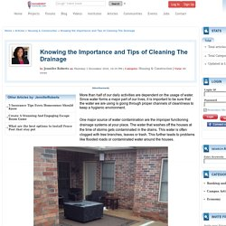 Knowing the Importance and Tips of Cleaning The Drainage