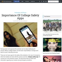 Importance Of College Safety Apps