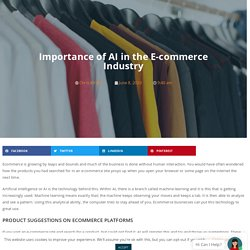 Importance of AI in the E-commerce Industry- NetTonic