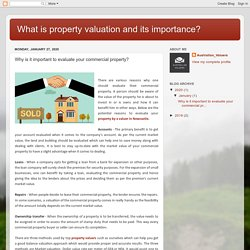What is property valuation and its importance?: Why is it important to evaluate your commercial property?