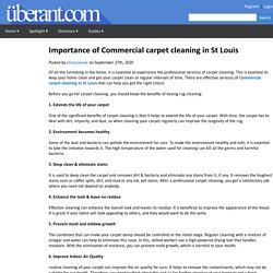 Importance of Commercial carpet cleaning in St Louis