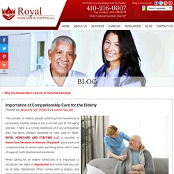 Importance of Companionship Care for the Elderly