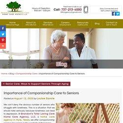 Importance of Companionship Care to Seniors