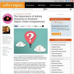 The Importance of Asking Questions to Promote Higher-Order Competencies