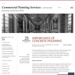 IMPORTANCE OF CONCRETE POLISHING