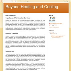 Beyond Heating and Cooling: Importance of Air Condition Services