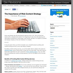 The Importance of Web Content Strategy