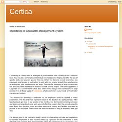 Certica : Importance of Contractor Management System