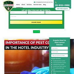 Importance of Pest Control in the Hotel Industry