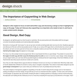 The Importance of Copywriting in Web Design