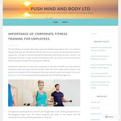 Importance of Corporate Fitness Training for Employees