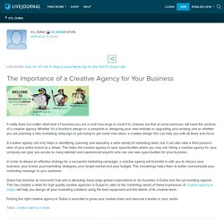 The Importance of a Creative Agency for Your Business