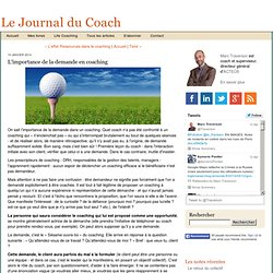 L'importance de la demande en coaching