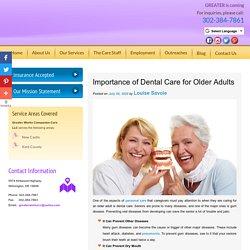 Importance of Dental Care for Older Adults