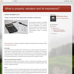 What is property valuation and its importance?: Things to know about tax depreciation schedule in Gold Coast