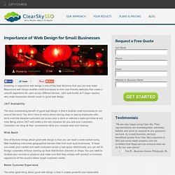 Importance Web Design Small Businesses