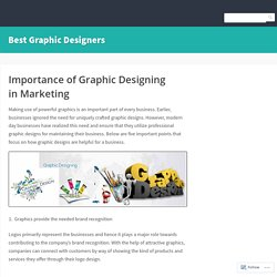 Importance of Graphic Designing in Marketing – Best Graphic Designers