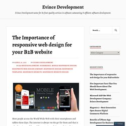 The Importance of responsive web design for your B2B website – Evince Development