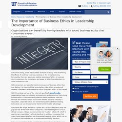Importance of Business Ethics in Leadership Development