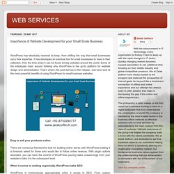 WEB SERVICES: Importance of Website Development for your Small Scale Business