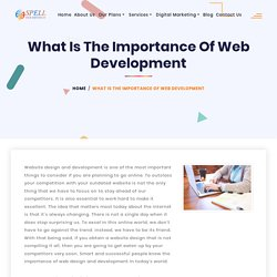 What Is The Importance Of Web Development - Spell Web InfoTech