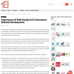Importance of Web Design in E-Commerce Website Development