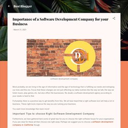 Importance of a Software Development Company for your Business