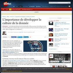L'importance de développer la culture de la donnée - ZDNet