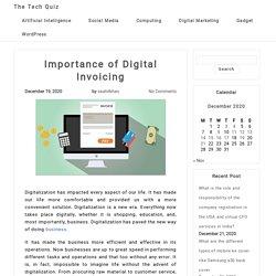 Importance of Digital Invoicing - Digitalization
