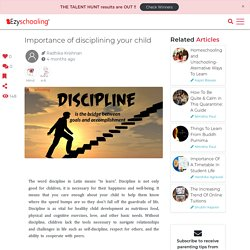 Importance of disciplining your child