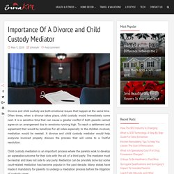 Importance Of A Divorce and Child Custody Mediator – Emma KM