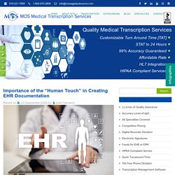"""Importance of the """"Human Touch"""" in Creating EHR Documentation"""