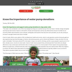 Know the importance of water pump donations