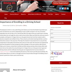 Importance of Enrolling in a Driving School
