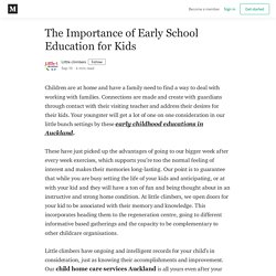 The Importance of Early School Education for Kids