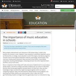 The importance of music education in schools