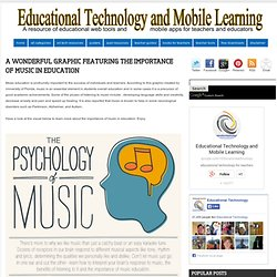 A Wonderful Graphic Featuring The Importance of Music in Education
