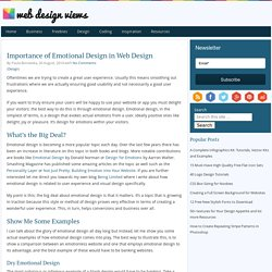 Importance of Emotional Design in Web Design