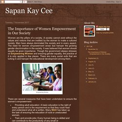 The Importance of Women Empowerment in Our Society